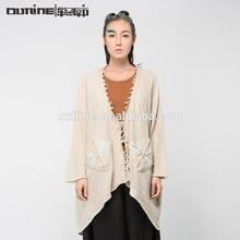 Aceptar una sola pieza de alta calidad v- cuello de algodón 100 mujer elegante encaje tops blusas
