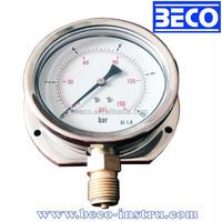 Bottom type caterpillar pressure gauge with back flange