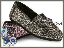 Sexy leopard grano plus cáscara brillante tomás estilo casual zapatos( 5years proveedor de oro)
