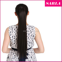 """Wholesale Ponytail Hair Extension 24""""60cm Women Long Straight Ponytails Clip in Hair Extensions Wrap Clip Ponytail P001"""