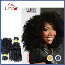 wholesale Unprocessed natural human hair extension afro kinky curly human hair weave Weft