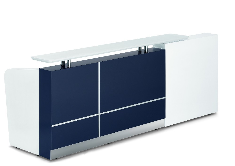 2015 new office office counter table design with top gloss