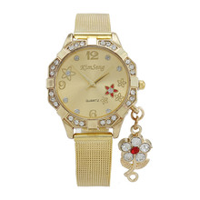 New Fashion Women Watch Stainless Steel Gold Dress Watches Men Women Luxury Casual Quartz Wrist watch