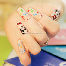 fashion newest design finger cheap flash wire disposiable nails polish sticker price China wholesaler