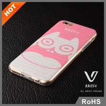 2015 new arrival cute cartoon 3d sublimation pc mobile phone for iphone 6 plus