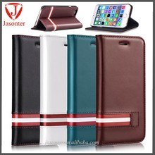 2015 new arrival wallet card holder Italy Leather flip cell phone slim mobile phone PU cover case for iphone 6 plus 5.5 inch
