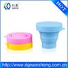silicone fold mug cup,Cheap silicone portable folding cups and mugs