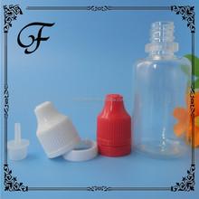 empty plastic bottle 20ml pet eliquid bottle with child safety cap