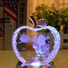 Christmas gift for clear crystal apple