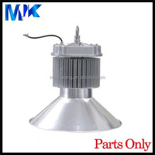 China Aluminum Profile Manufacturer 140w sliver high bay casing Extruded high bay light fixture, led high bay light housings
