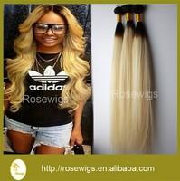 18inch Blonde Hair Weave Ombre Blonde Virgin Human Hair 7A Virgin Extension Brazilian Hair Bundles