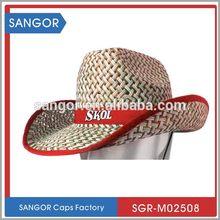Durable hermosos niños sombrero vaquero de paja