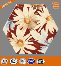 Inkjet Flower Pattern Decorative Porcelain Wall Tile and Interior Porcelain Floor Tile