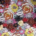 2015 más populares de encaje pulgadas 48 de organza de poliéster tela para vestido de fiesta