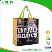 New design cheap practical English alphabet pp woven stocklot pp shopping bag