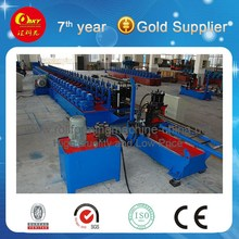 Run Cutting C Purlin Metal Stud And Track Roll Forming Machine For Steel Frame
