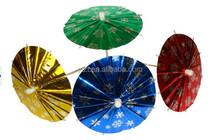 Decorative cocktail umbrellas toothpicks