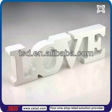 TSD-W1217 white wooden letters/ decorative wooden block letters / wooden letters display