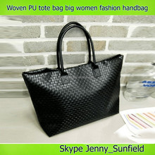 Fashion bags Woven PU tote bag big women fashion handbag
