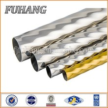 Manufacture 201 embossed stainless steel pipe