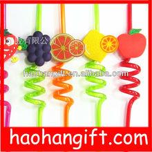 pvc drinking straw/Fruit type drinking straw