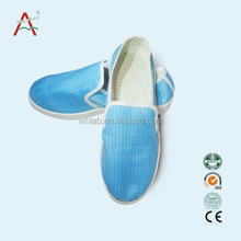 2015 MADE IN CHINA BLUE OUTSOLE ANTISTATIC FABRIC AND PVC SOLE SAFETY SHOE