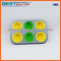 hot sell Silicone 6 Muffins Baking Tin