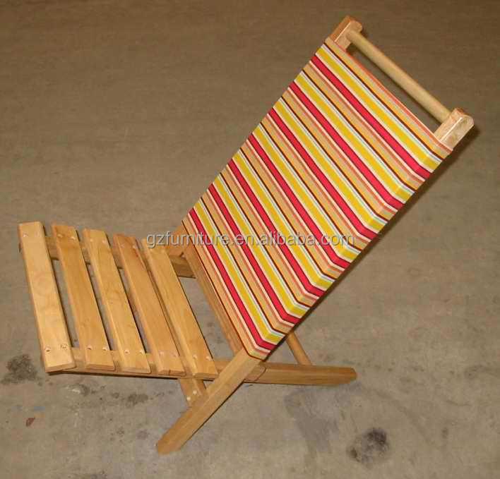 Ext rieur en bois des chaises de plage chaise longue for Chaise longue pliante plage