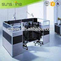 Guangzhou Sunshine MDF Modular Staff Partitions Wooden Office Furniture Modern Office Cubicles
