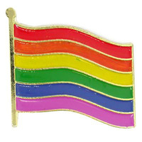 Custom,unique metal rainbow flag lapel pin badge crafts with many colours
