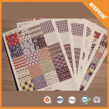 Decorative wholesale custom adhesive clear cosmetics label stickers