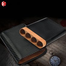 Personalized leather cigar case men's humidors