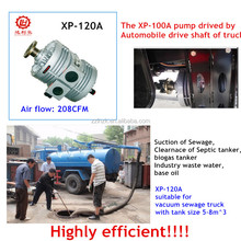 XP-120A Air cooled rotary vane PTO vacuum pump for 208CFM sewage trucks for oil fields service