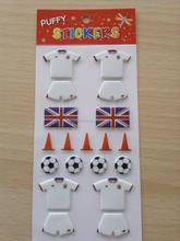 the world cup play football 3D foam sticker for kids