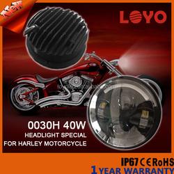 "Latest design 5.6"" Round 9-32V Black Motorcycle led headlight for Motorcycle Harley"