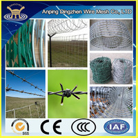 single and twist crossed razor barbed wire