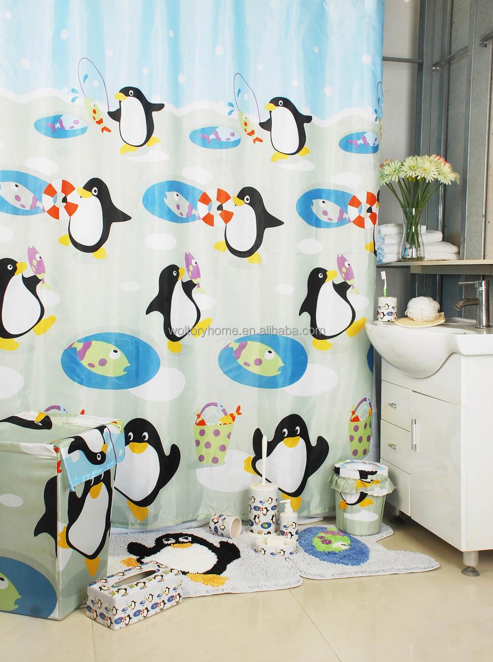 Bath Rug Sets Bathroom Products Bath Set Penguin Bathroom Set Shower