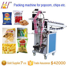 Bucket Chain Semi Automatic Vertical Potato Chips packaging machine, crisps packing machinery, fried chips filling and sealing