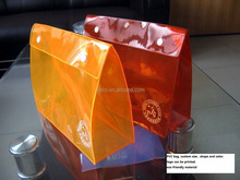 Printed plastic clear vinyl pvc packaging pouch