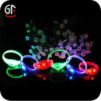 New Designed Party Decoration Free Sample Cheap Custom Led Slap Bracelet