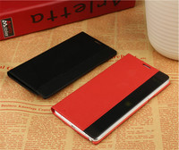Baseus smart window flip leather case for sumsang note4 with sliding answe calls funtion