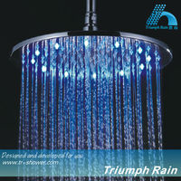 Chrome plated brass round LED shower head