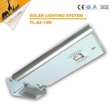 guangzhou felicity Good design high lumens 15W LED all in one Solar garden light