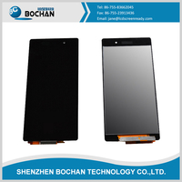 Cell phone supplier for sony xperia Z2 touch screen digitizer for xperia z2 lcd display with frame assembly for Z2