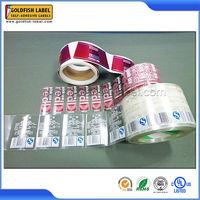 Custom full color roll transparent stickers