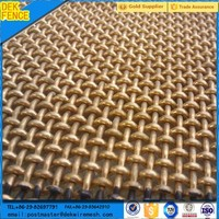 Woven Decorative Wire Mesh / Stainless Fencing Mesh