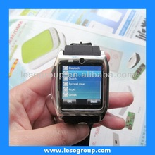 2014 bluetooth watch cellphones for any smart phone with touch screen quad band