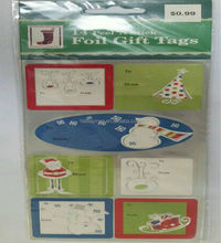 14 Peel' N Stick Aluminum foil paper Christmas gift tags