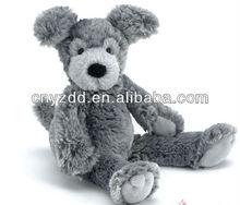 grey plush dog/plush dog toy/dog soft animal toy