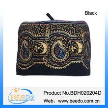 Muslim ladies black knit kufi skull cap